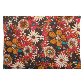 Modelo floral de la materia textil del vintage sun manteles individuales
