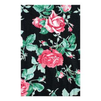 modelo floral de la moda del vintage  papeleria de diseño