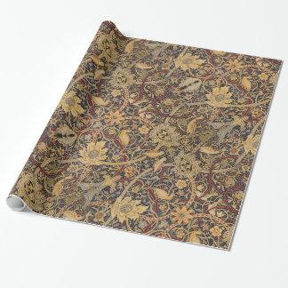Modelo floral de la tela de la tapicería del papel de regalo