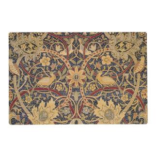 Modelo floral de la tela de la tapicería del tapete individual