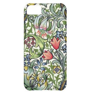 Modelo floral de la zaraza del lirio de oro de carcasa iPhone 5C