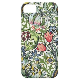 Modelo floral de la zaraza del lirio de oro de iPhone 5 fundas