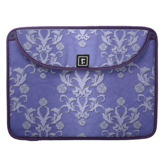 Modelo floral de lujo azul del damasco del bígaro fundas para macbook pro