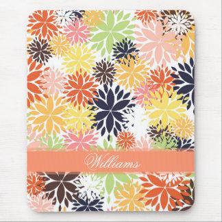Modelo floral de moda femenino hermoso del ejemplo mouse pads
