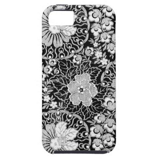 Modelo floral del cordón del vintage iPhone 5 funda