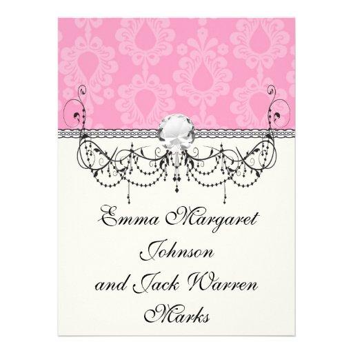 modelo floral del damasco del rosa en colores past comunicados