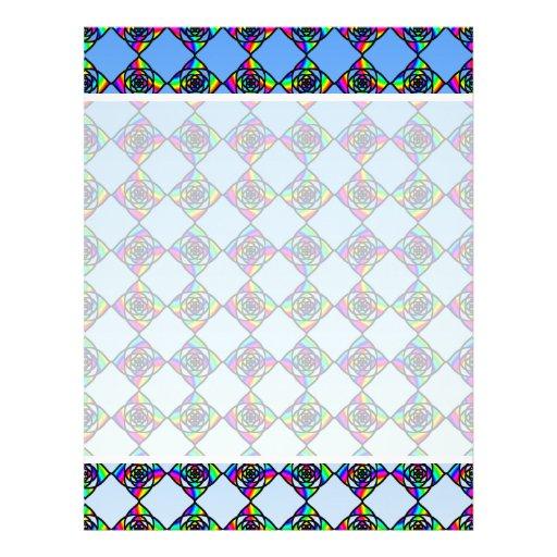 """Modelo floral del efecto del vitral folleto 8.5"""" x 11"""""""