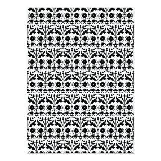 Modelo floral del estilo de Papercut del arte Invitación 13,9 X 19,0 Cm