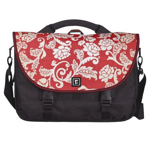 Modelo floral del fondo del damasco bolsas para portatil