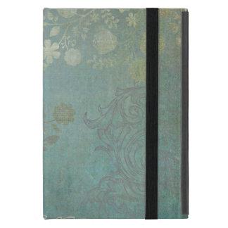 Modelo floral del fondo del Grunge del vintage en  iPad Mini Cárcasa