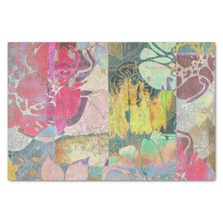 Modelo floral del grunge del arte papel de seda pequeño