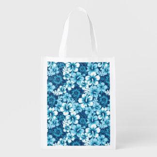 Modelo floral del hibisco de la resaca bolsa para la compra