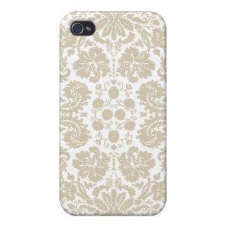 Modelo floral del nouveau del arte del vintage iPhone 4 protector