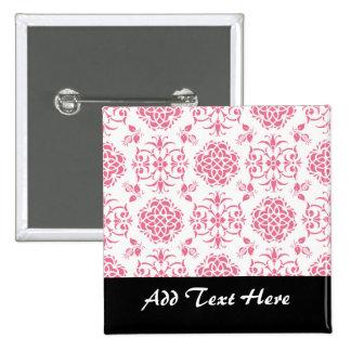 Modelo floral del rosa y blanco del damasco del pins