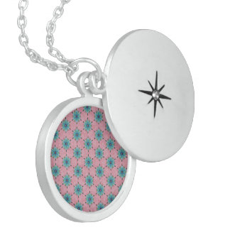 Modelo floral del trullo rosado abstracto moderno medallones
