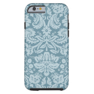 Modelo floral del verde azul del nouveau del arte funda de iPhone 6 tough