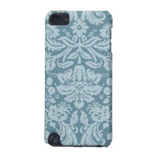 Modelo floral del verde azul del nouveau del arte