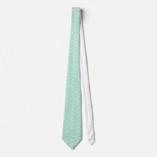 Modelo floral del verde menta y blanco de los corbatas personalizadas