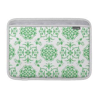 Modelo floral del verde menta y blanco del damasco funda macbook air