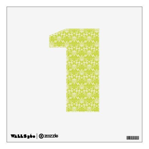 modelo floral delicado del damasco del verde amari