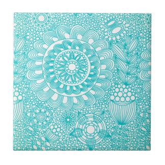 modelo floral delicado del enrejado azulejo cuadrado pequeño