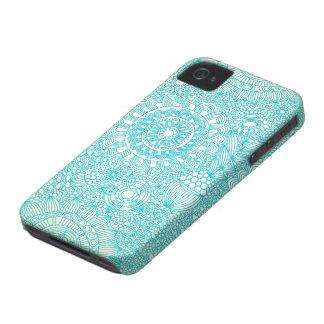 modelo floral delicado del enrejado Case-Mate iPhone 4 funda