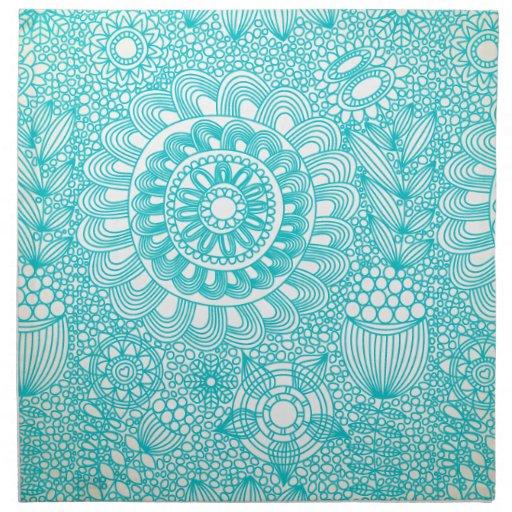 modelo floral delicado del enrejado servilleta de papel