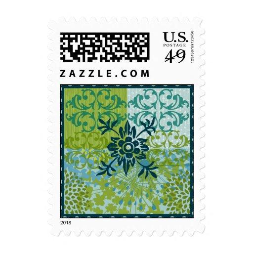 Modelo floral elegante bonito del damasco del sellos