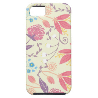 Modelo floral en colores pastel del jardín de la iPhone 5 carcasa