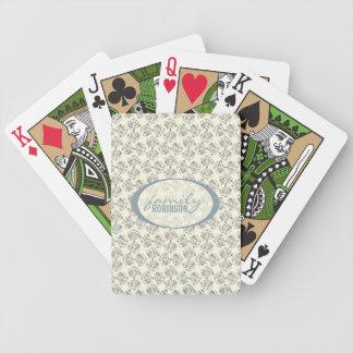 Modelo floral especial del vintage baraja cartas de poker