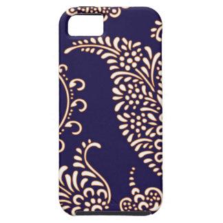 Modelo floral femenino de la alheña de Paisley del iPhone 5 Protector