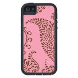 Modelo floral femenino de la alheña de Paisley del iPhone 5 Case-Mate Cárcasa