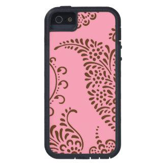 Modelo floral femenino de la alheña de Paisley del iPhone 5 Carcasas