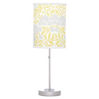 Modelo floral gris amarillo del damasco lámpara de escritorio