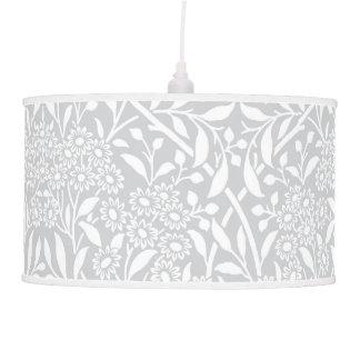 Modelo floral gris del damasco