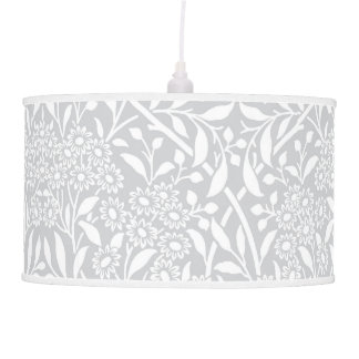 Modelo floral gris del damasco lámpara de techo