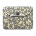 Modelo floral gris y amarillo funda para macbooks