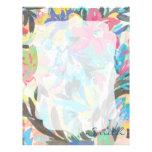 Modelo floral hermoso de los watercolours de la pi plantillas de membrete