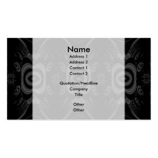 Modelo floral negro y gris gótico tarjetas de visita
