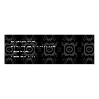 Modelo floral negro y gris gótico tarjetas de visita mini
