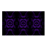 Modelo floral negro y púrpura gótico tarjeta de negocio
