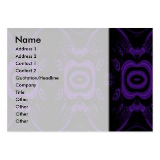 Modelo floral negro y púrpura gótico tarjetas de visita grandes