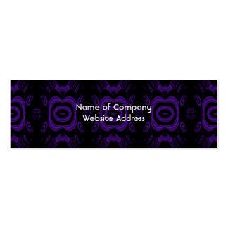Modelo floral negro y púrpura gótico tarjetas de visita mini