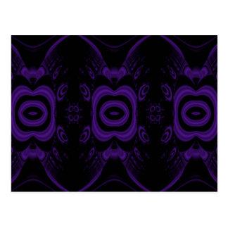 Modelo floral negro y púrpura gótico tarjetas postales