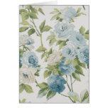 Modelo floral Notecard del rosa azul y blanco