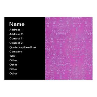 Modelo floral púrpura fucsia del damasco tarjetas de visita grandes