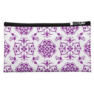 Modelo floral púrpura y blanco del estilo del
