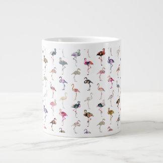 Modelo floral retro caprichoso femenino de los fla tazas extra grande