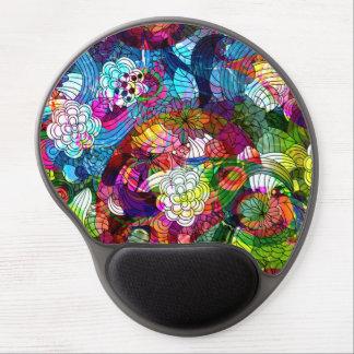 Modelo floral romántico del collage alfombrilla de ratón con gel