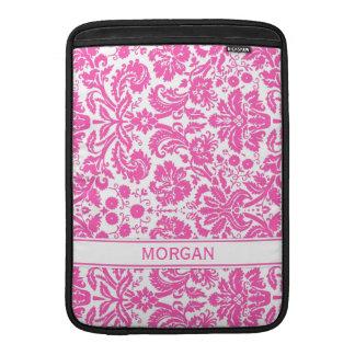 Modelo floral rosado de encargo del damasco de Mac Fundas MacBook
